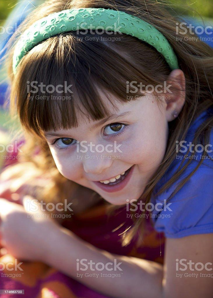 Ragazza sorridente foto stock royalty-free