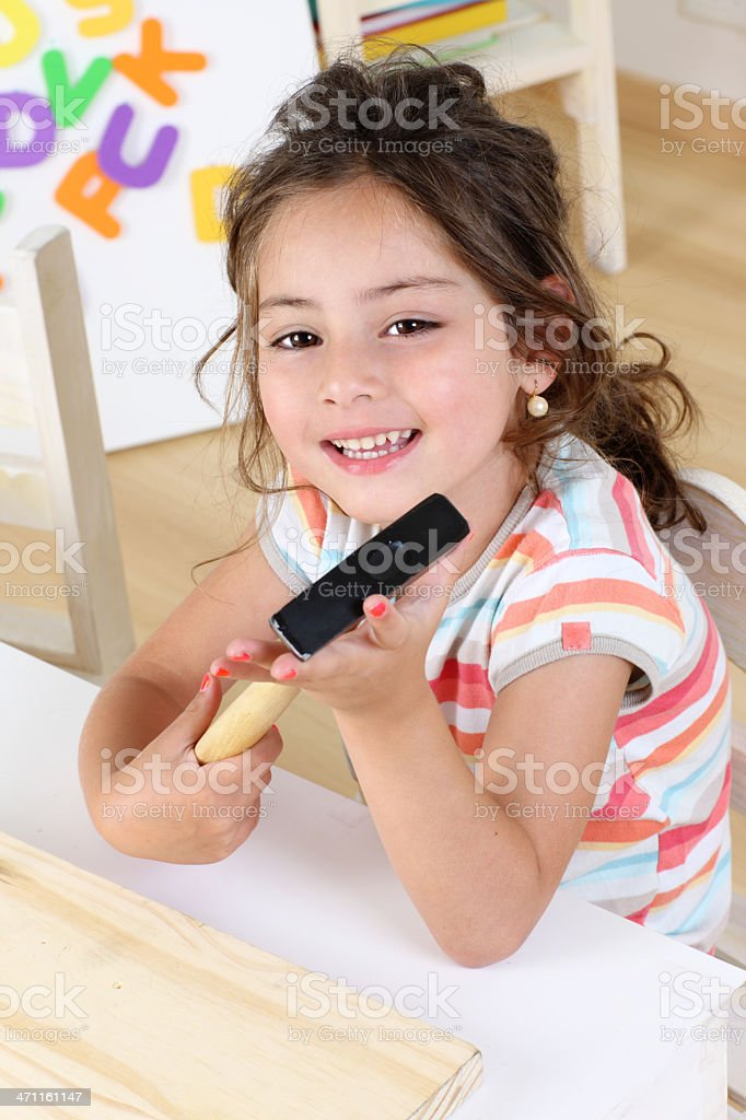 Smiling girl royalty-free stock photo