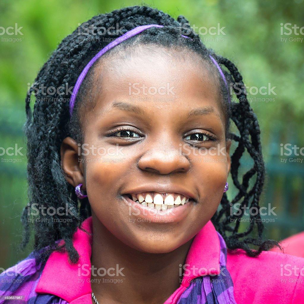 Smiling Girl (10-11 yrs) stock photo