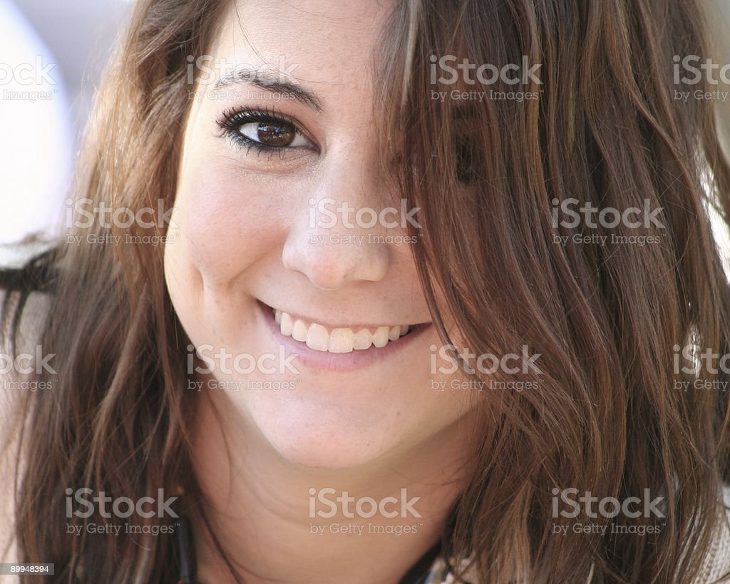 Smiling Girl with Dimples royalty-free stock photo
