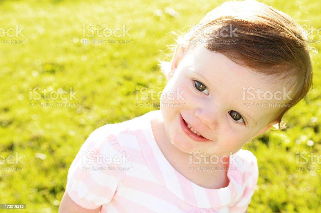 Smiling Glance royalty-free stock photo