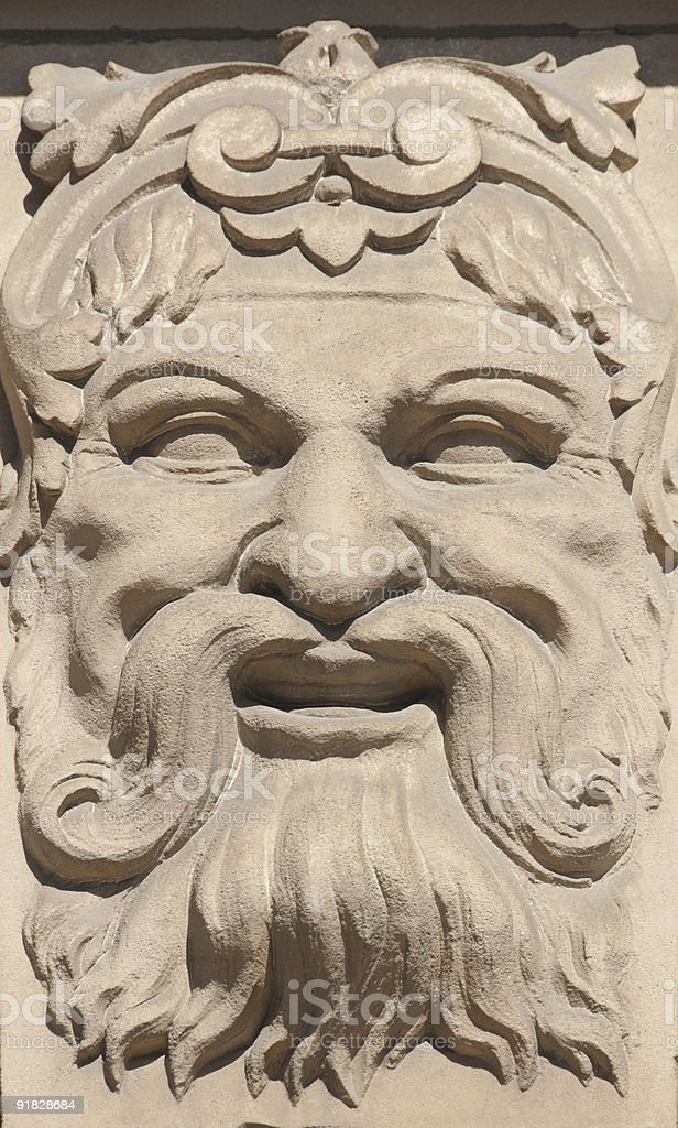 Smiling god stock photo