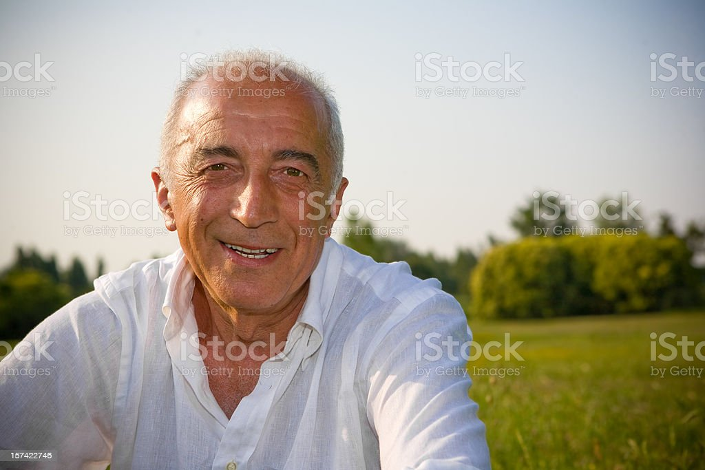 Smiling grandfather royalty-free stock photo