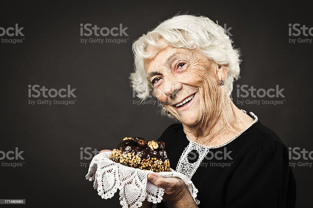Smiling grandmother stock photo
