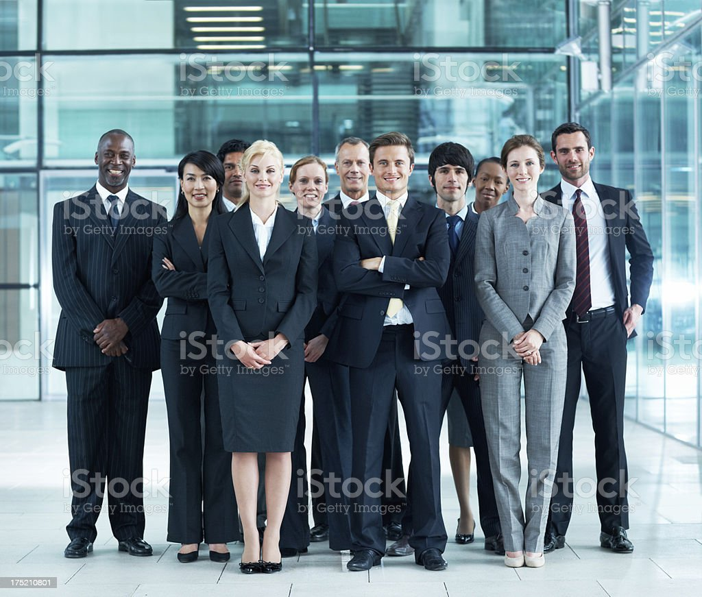 Smiling Group of Business People royalty-free stock photo