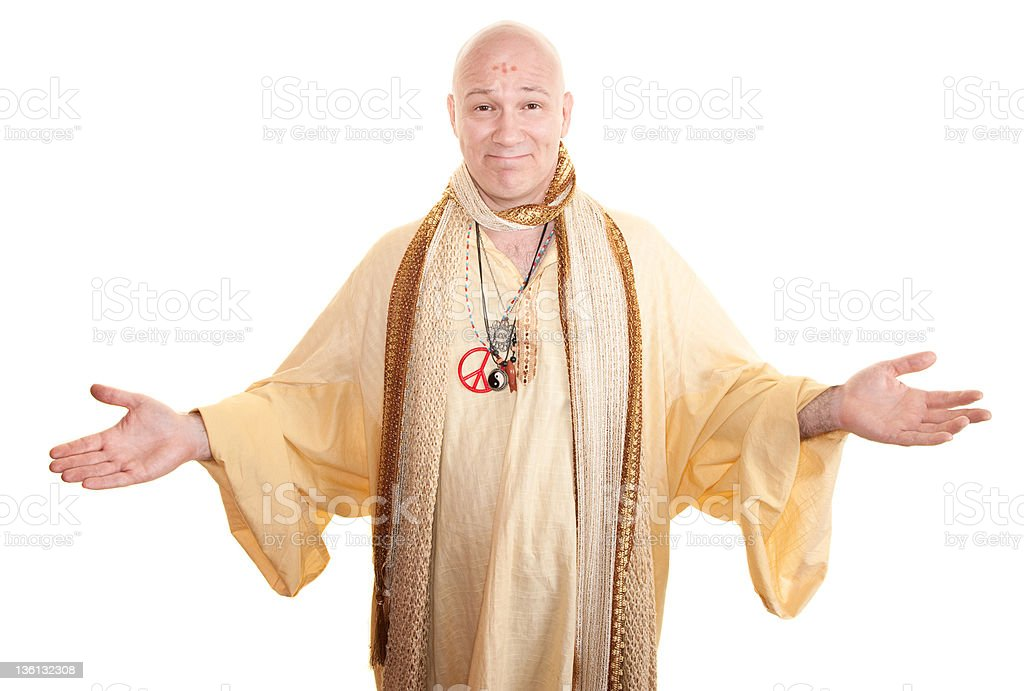 Smiling Guru stock photo