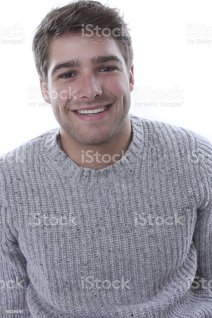 smiling guy next door stock photo