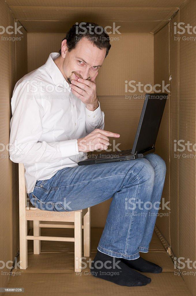 smiling hacker royalty-free stock photo