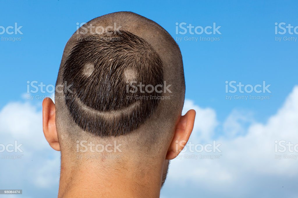 Smiling hairstyle royalty-free stock photo