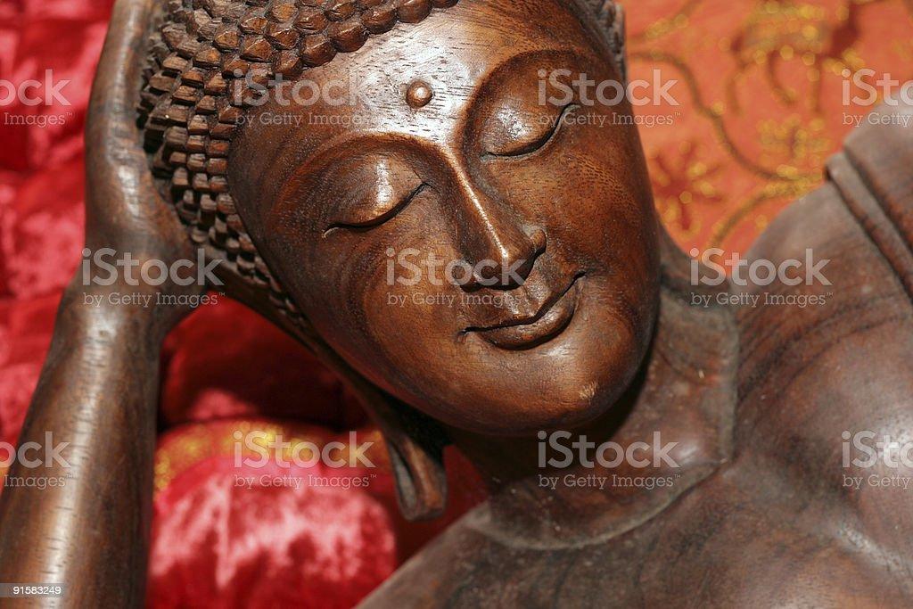 smiling happy buddha stock photo