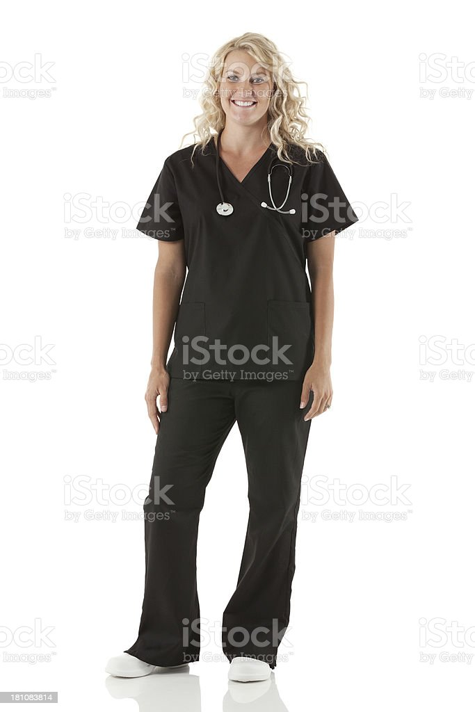 Smiling healthcare worker royalty-free stock photo