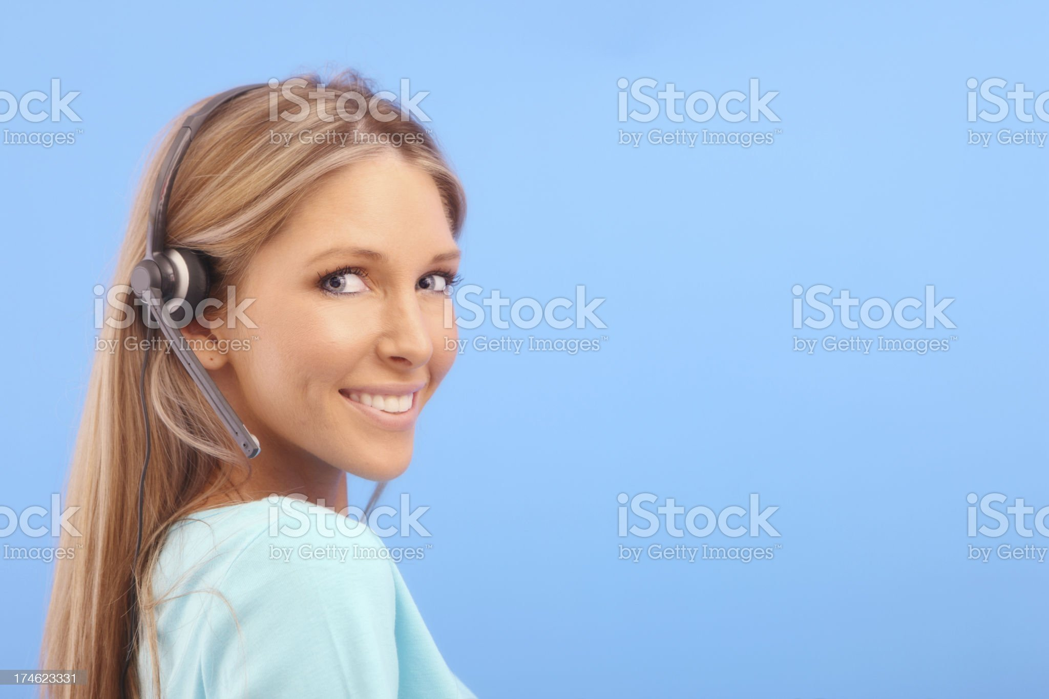 Smiling Help royalty-free stock photo