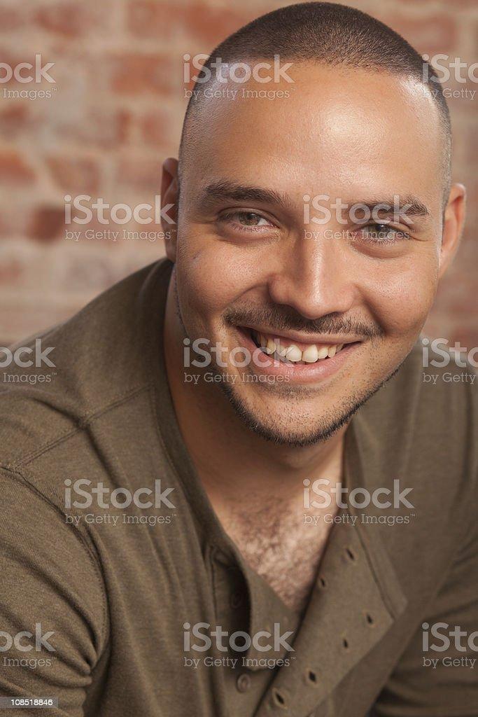 Smiling Hispanic Male stock photo