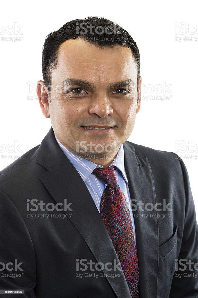 Smiling hispanic mature man royalty-free stock photo