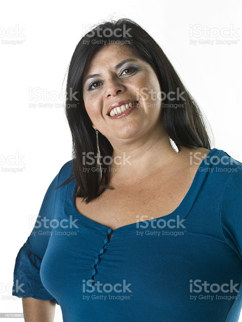 smiling hispanic woman stock photo
