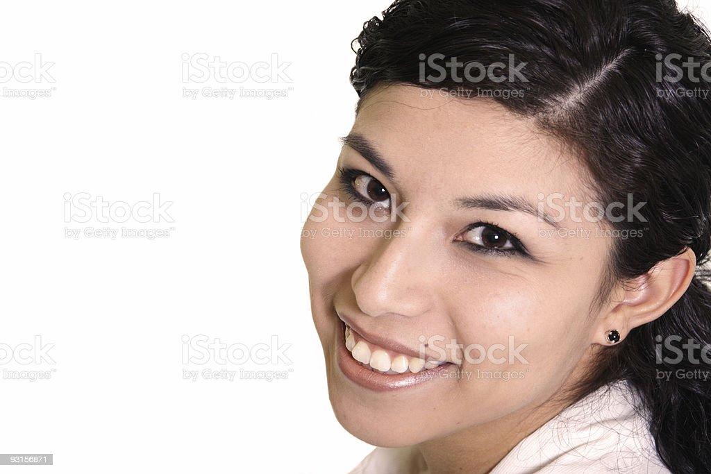 Smiling Hispanic Woman royalty-free stock photo