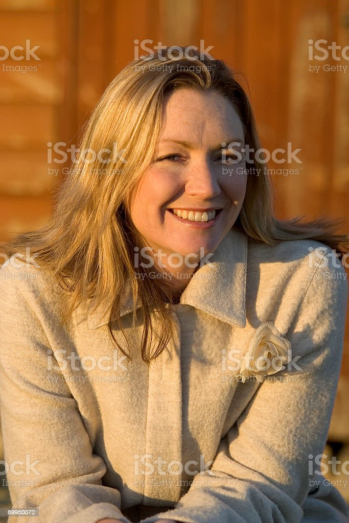 Smiling In Sunlight royalty-free stock photo