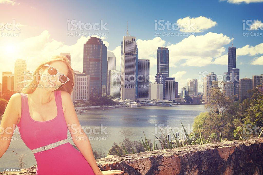 Smiling in the city royalty-free stock photo