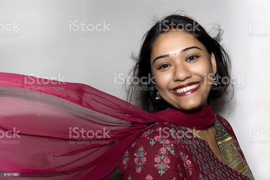 Smiling Indian Woman royalty-free stock photo