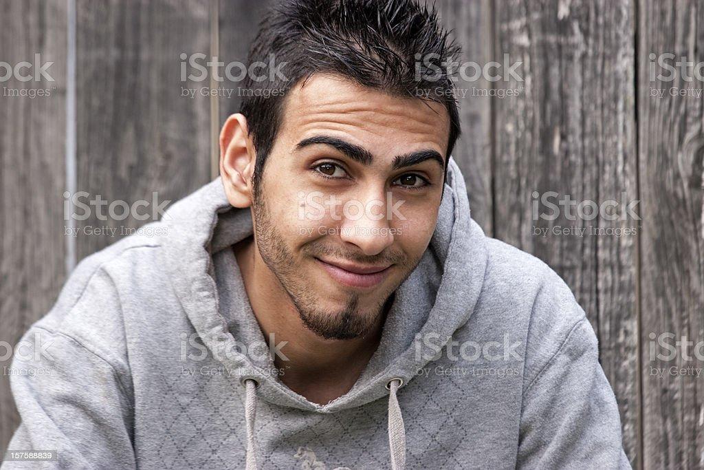 Smiling iraqi man royalty-free stock photo