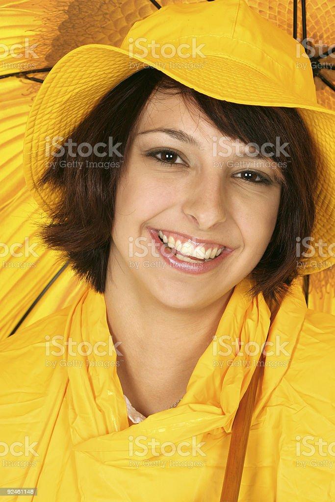 smiling its raining royalty-free stock photo