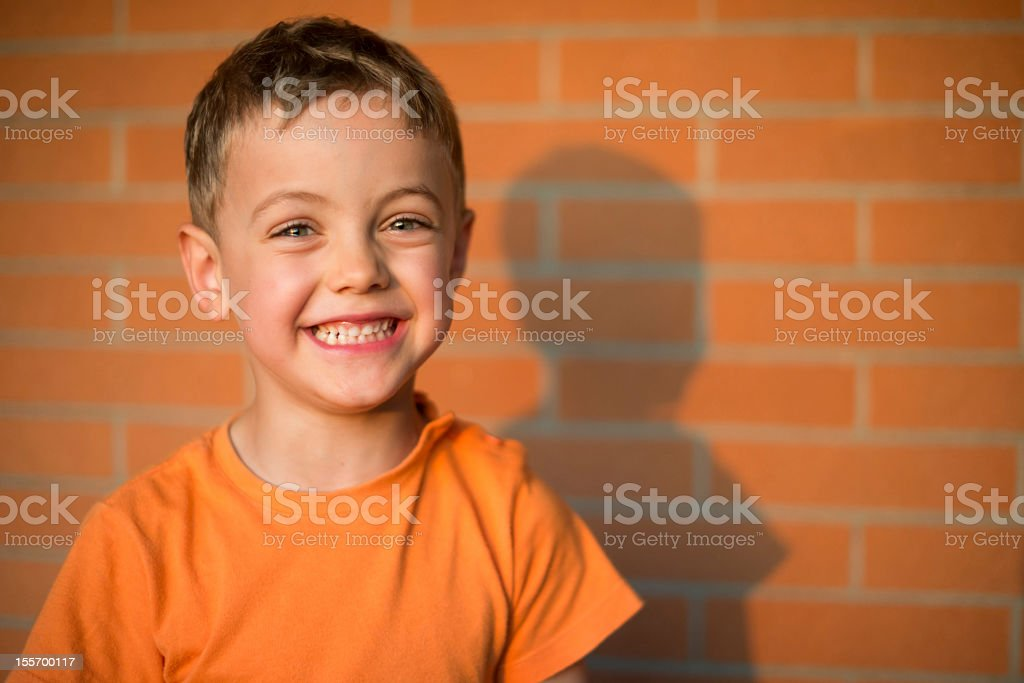 Smiling kid stock photo