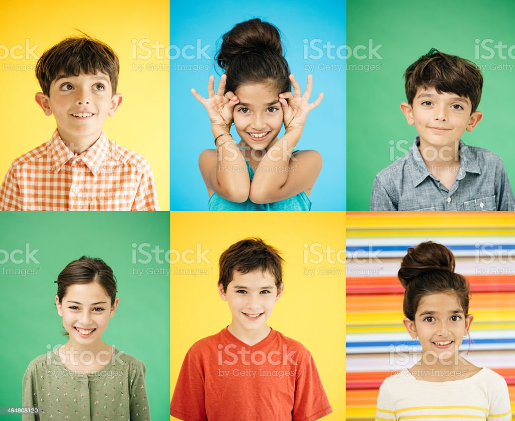 Smiling kids stock photo