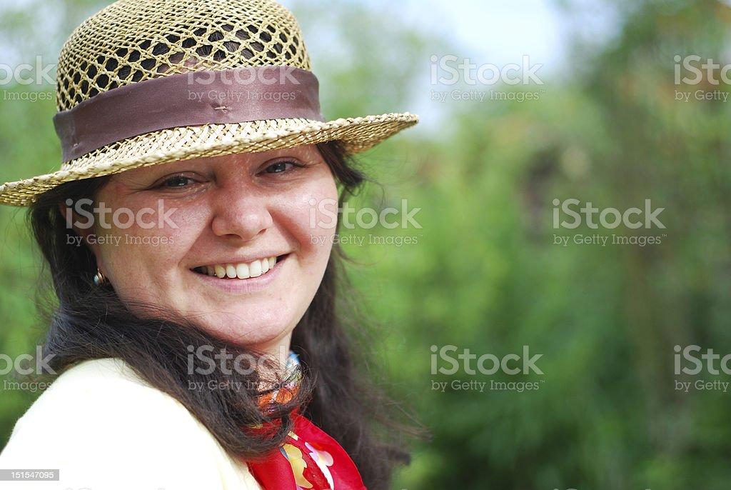 Lächelnde Frau Porträt Lizenzfreies stock-foto