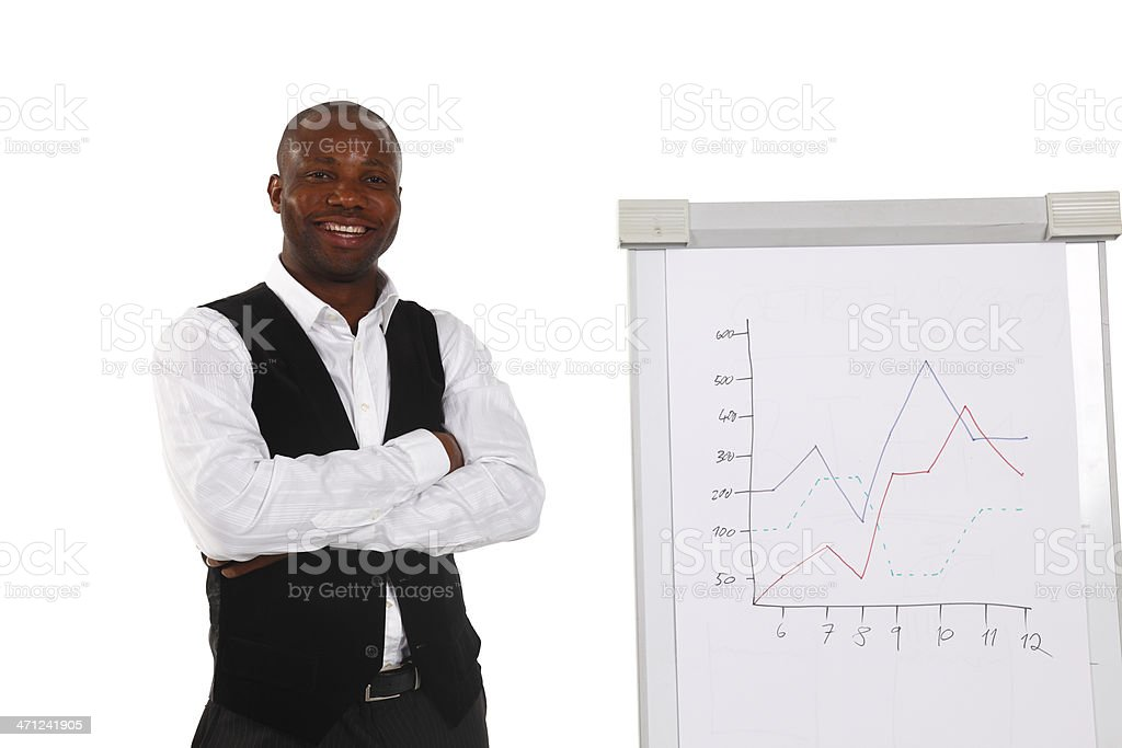 Smiling lecturer royalty-free stock photo