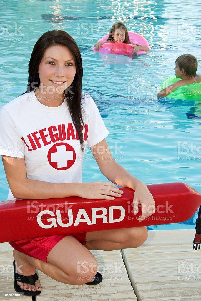 Smiling Lifeguard stock photo