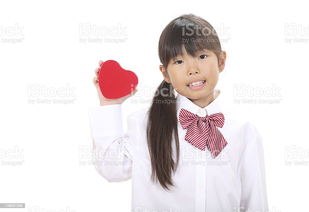 Smiling little asian girl royalty-free stock photo