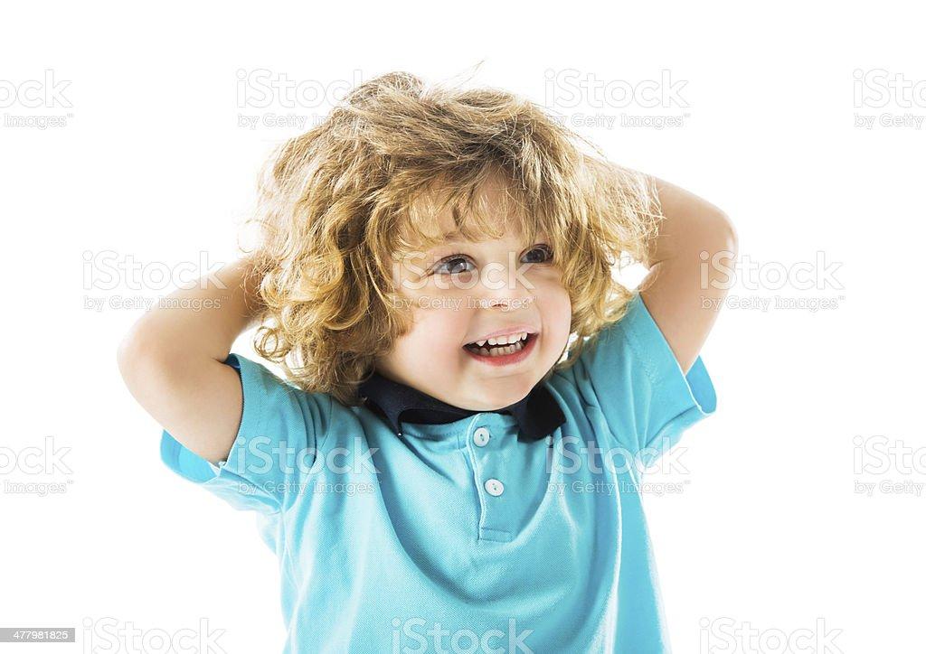 Smiling little boy. royalty-free stock photo