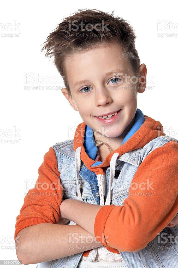 Smiling little boy stock photo