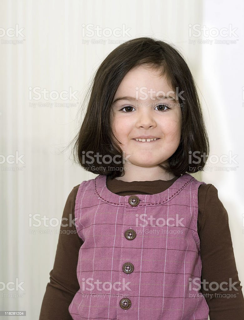 Smiling little girl royalty-free stock photo