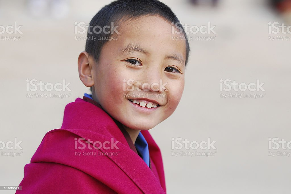 Smiling Little Monk royalty-free stock photo