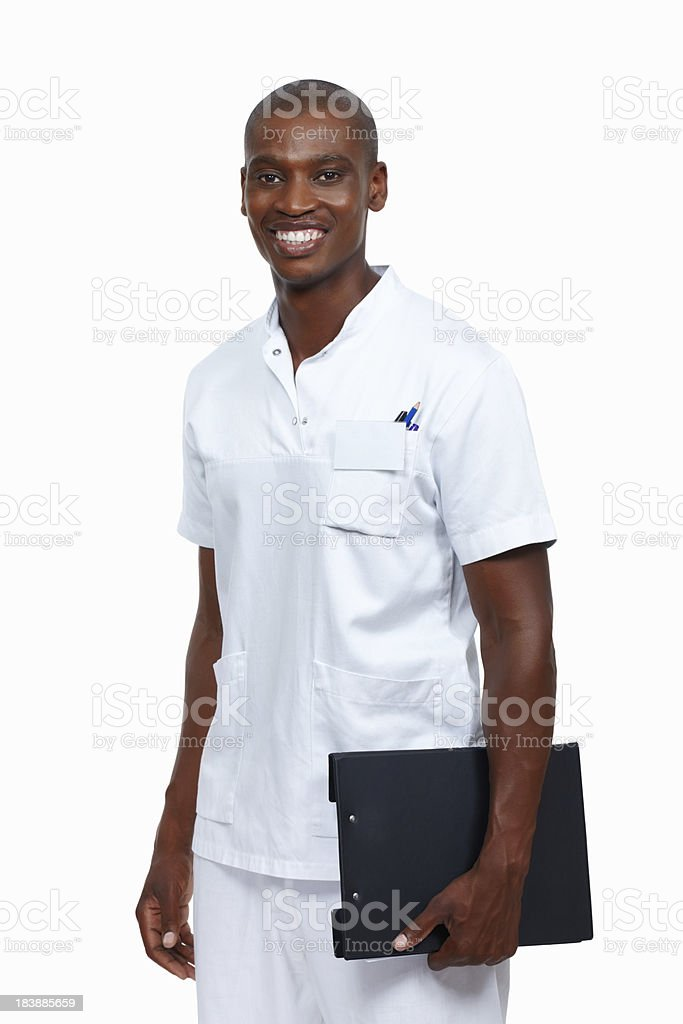 Smiling, male doctor royalty-free stock photo