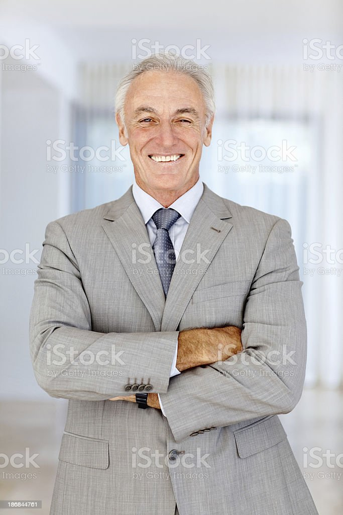 Smiling male executive royalty-free stock photo