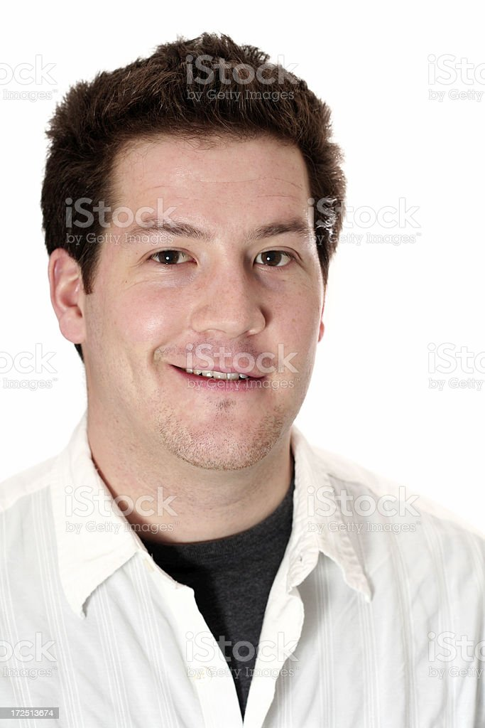 smiling male royalty-free stock photo