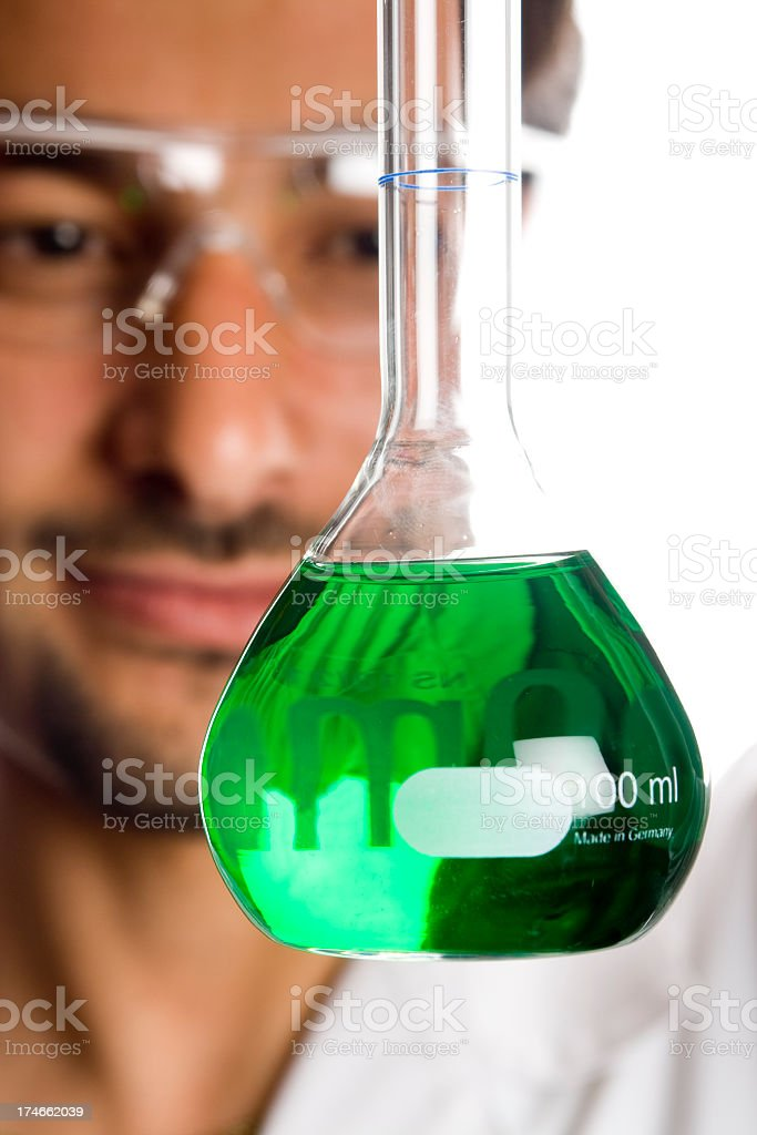 Smiling Male Scientist in Lab royalty-free stock photo