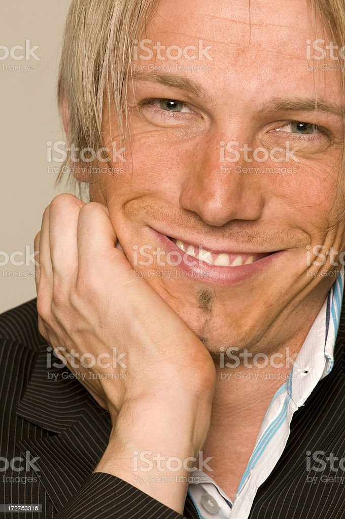 smiling man close up royalty-free stock photo