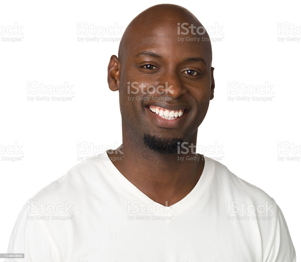 Smiling Man Close Up Portrait royalty-free stock photo