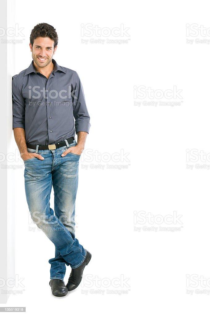 Smiling man full length stock photo
