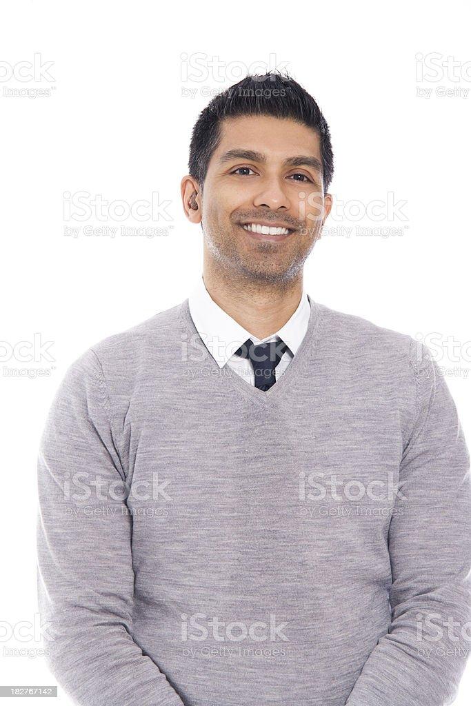 Smiling Man Isolated on White Background royalty-free stock photo