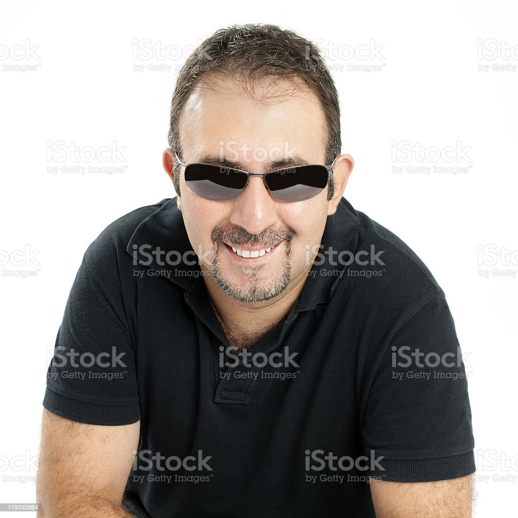 Smiling man looking at camera royalty-free stock photo