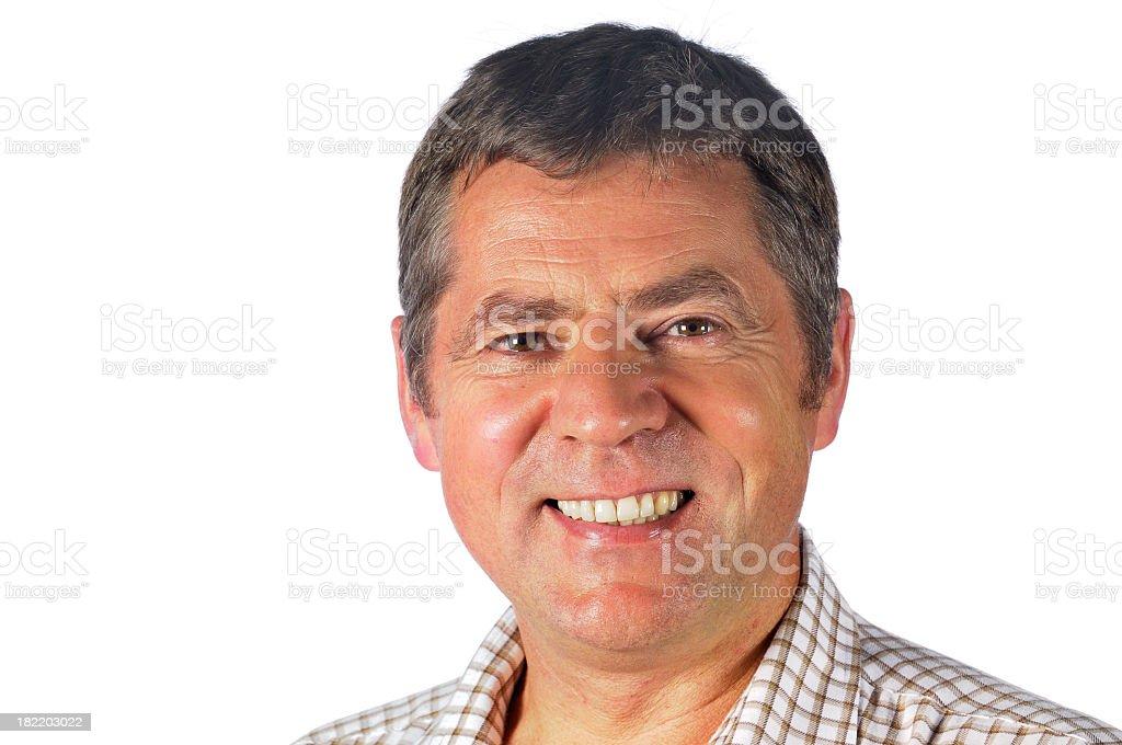 Smiling Man looking at the Camera stock photo