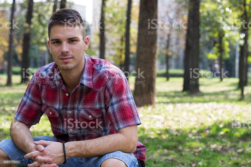 Smiling man stock photo
