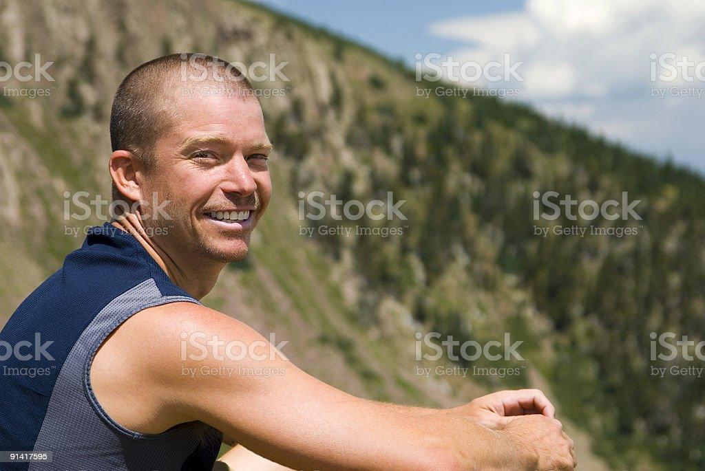 Lächelnde Mann Lizenzfreies stock-foto