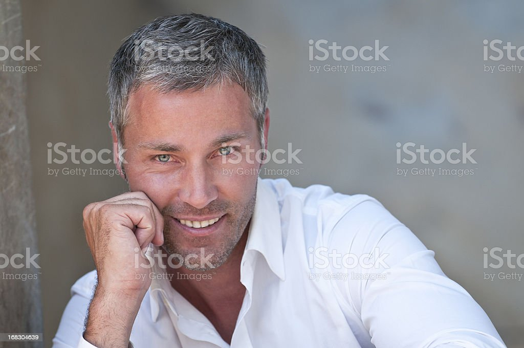 smiling man portrait royalty-free stock photo