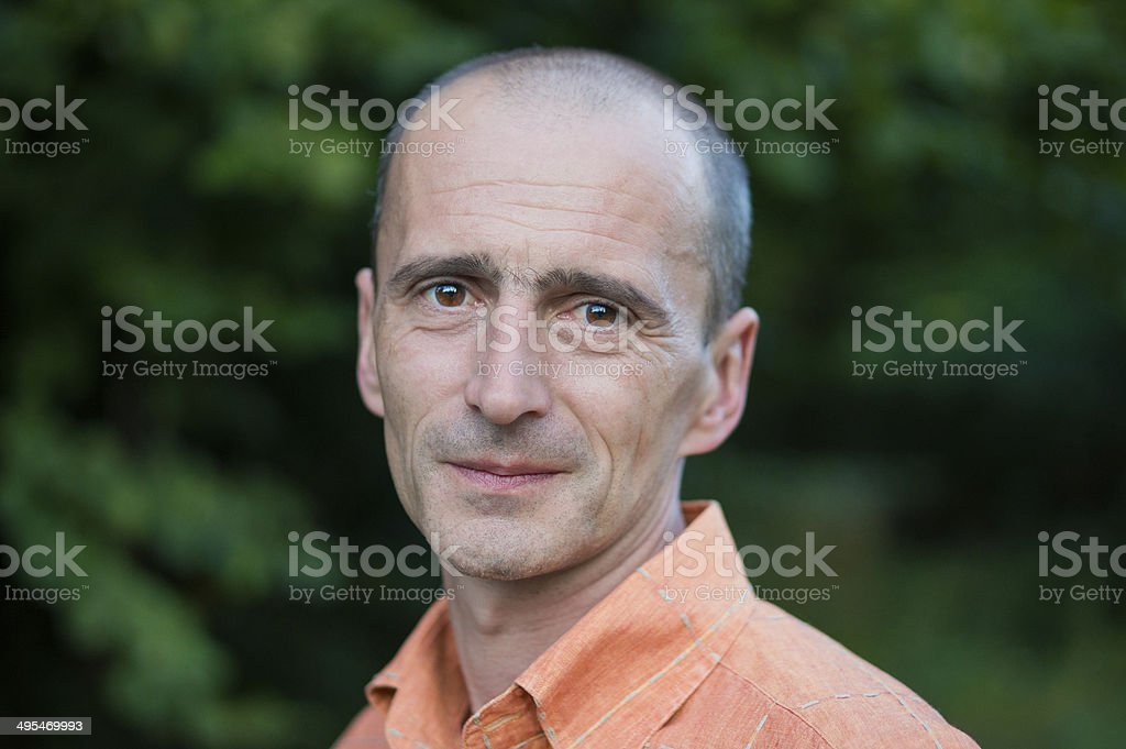 Smiling Man Portrait royalty-free stock photo