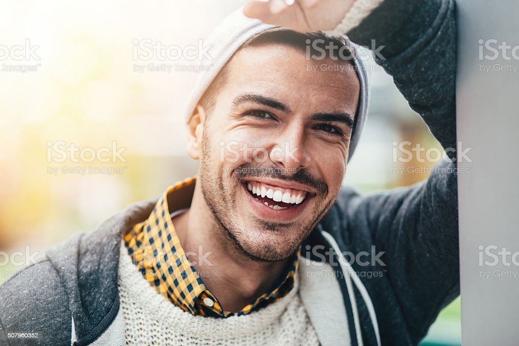 Smiling Man Portrait stock photo